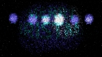 merry christmas with colorful fireworks 4k