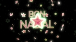 bon nadal estrella 3d 4k verd vermell i blanc lluisor rotacio amb particules