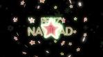 feliz navidad estrella 3d 4k verde rojo y blanco resplandor rotacion con particulas