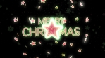 merry christmas star 3d 4k green red and white glow rotation with particles