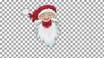 santa head animation alpha channel 4k
