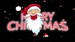 santa merry christmas animation with hat particles and stars 4k