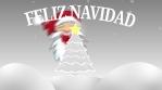 feliz navidad arbol estrella santa claus y nieve exterior 4k escala de grises y rojo
