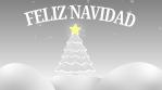 feliz navidad arbol estrella y nieve exterior 4k escala de grises
