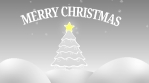 merry chistmas tree star and snow outdoors 4k grey scale