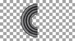 element of infinite loop, snake, path, editable for various uses, 3d element, circle