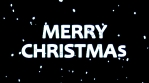merry christmas with confetti 4k glow black background