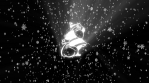 christmas icons while snow falls down 4k black background 02