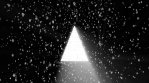 christmas icons while snow falls down 4k black background
