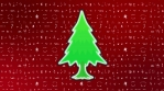 christmas trees with christmas icon background red