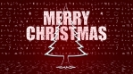 merry christmas trees shape and glow with christmas icons red background 02