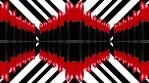 Red lipstick columns over lines background 4k 06