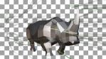 Running Metallic Rhinoceros