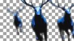 Three Blue Elks Running