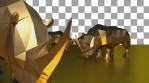 Gold Rhinoceros