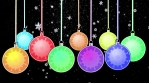 christmas tree balls with covid 4k snow background