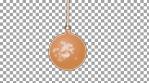 single christmas tree ball with covid virus inside 4k alfa channel
