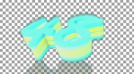 00 - 59 to 0 countdown elastic 3d 4k blue and yellow
