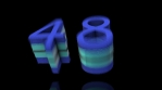 00 - 59 to 0 countdown elastic 3d 4k blue