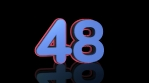 59 to 0 countdown elastic 3d 4k red blue black