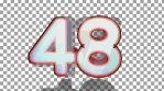 59 to 0 countdown elastic 3d 4k orange and blue alpha channel