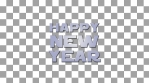 Happy  New Year Text Fly by - alpha