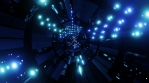 Sci Fi Tunnel Blue Circle Design 1
