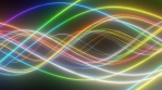 Abstract Rainbow Neon Tube Light Wave Curves Glow Bright Spectrum
