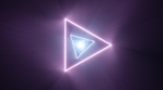 Fly Through Twisted Neon Pink Blue Triangle Shape Endless Tunnel