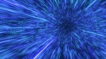 Infinite Neon Laser Beams Fly by at Speed of Light in Outer Space