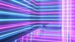 Pink Blue Vaporwave Aesthetic Neon Laser Beam Futuristic Reflections