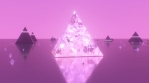 Pink Glass Crystal Pyramid Shines Abstract Aesthetic Light Reflection