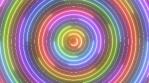 Rainbow Neon Saber Circle Ring Halo Waves Rotate Laser Lights Flash
