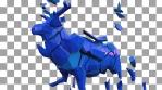 Shattered Blue Elk