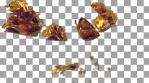 Shattered Gold Rose