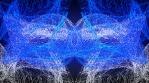 Cosmic Glow Mesh Particles