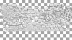 Wall explosion, destruction. 3D animation. Stonewall collapse.