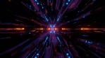 Sci Fi Tunnel Dark Reflections 2