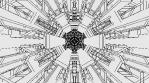 Monochrome Kaleido Mandala 05