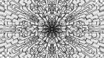 Monochrome Kaleido Mandala 08