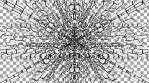 Monochrome Kaleido Mandala 010