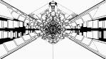 Monochrome Kaleido Mandala NO ALPHA 04