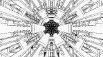 Monochrome Kaleido Mandala NO ALPHA 05