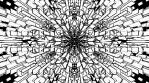 Monochrome Kaleido Mandala NO ALPHA 08