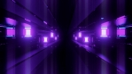 Purple Glow Sci Fi Tunnel