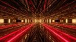 Red Glowing Sci Fi Tunnel