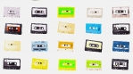 Stop motion of different cassette tapes