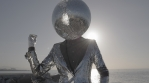 Mr disco ball dancing by the ocean