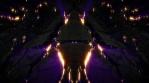 Crack bulge rock purple gold rays