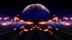 Lava cradle giant moon rays